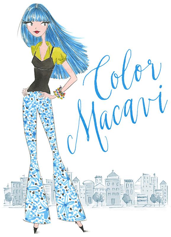 ilustracion de akhiggins color macavi verano
