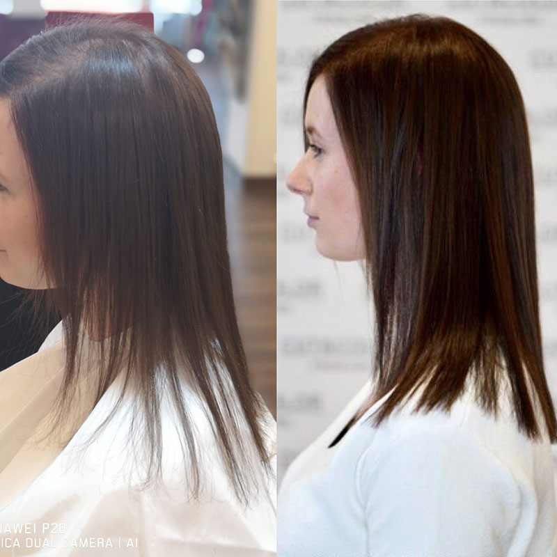 galeria de extensiones de cabello natural más volumen
