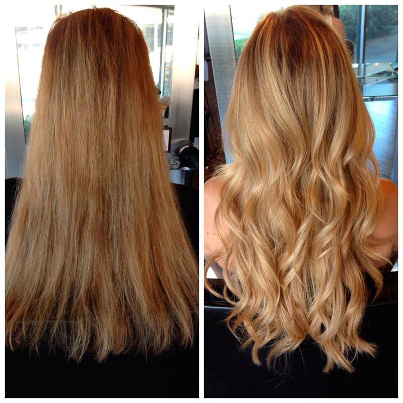 galeria de extensiones de cabello natural ondulado
