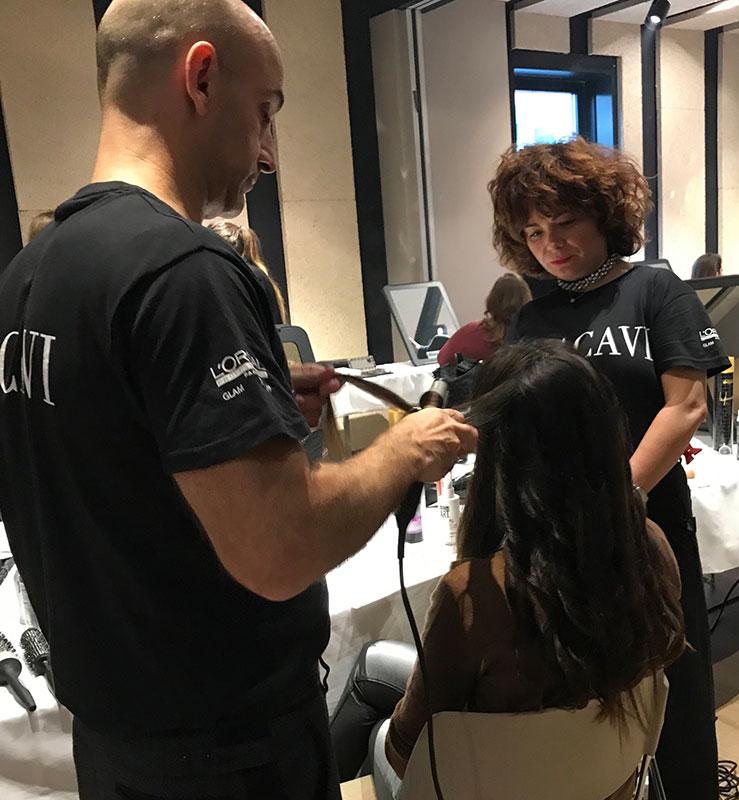 Premios Feroz 2019 ondulando el pelo