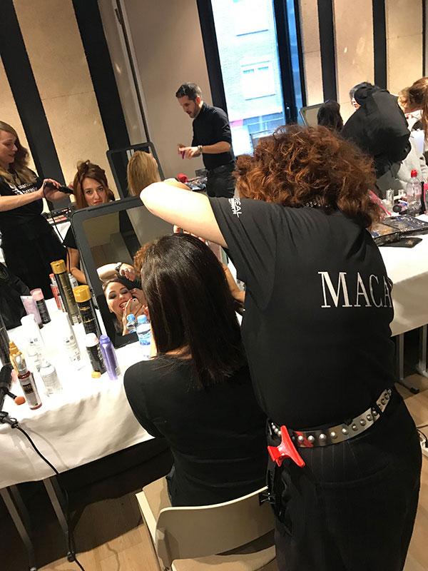 Premios Feroz 2019 trabajando el peinado