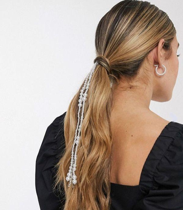 joyas en el pelo con coleta