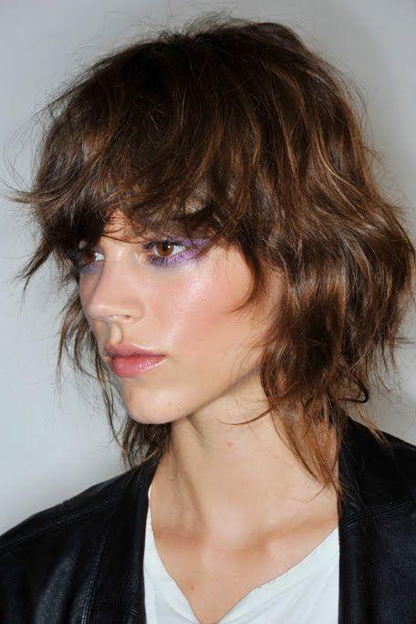 Corte de pelo shaggy en cabello corto