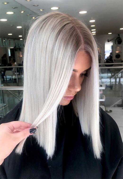 el color del otoño para el cabello, pelo platino
