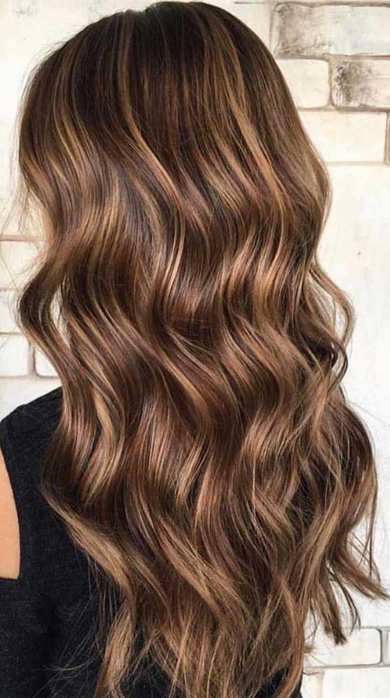 el color del otoño para el cabello, tonos chocolate