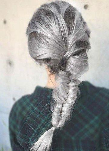 pelo gris nueva tendencia
