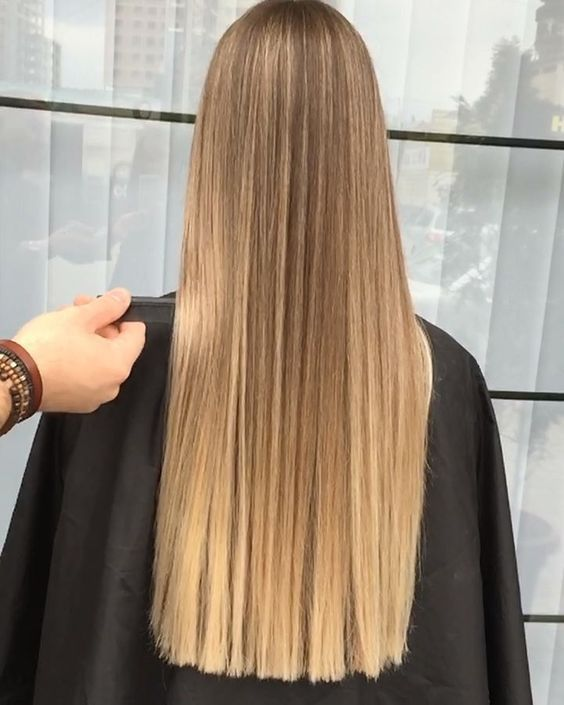 cabello largo melena recta la tendencia de esta primavera