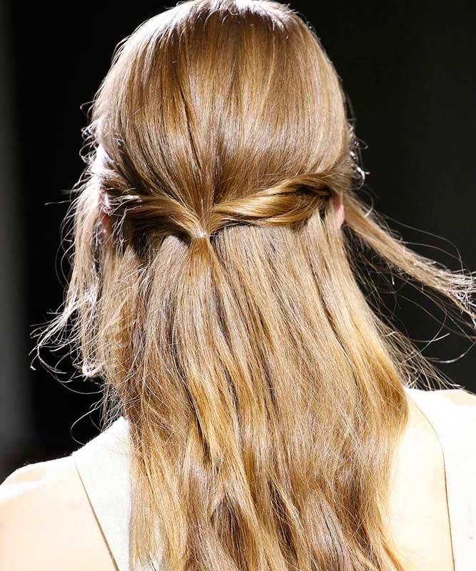 peinado semi recogido tipo twist